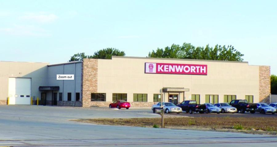 Sioux City Kenworth's new 44,000 sq.-ft. facility sits on a 12.5-acre site and features a 16-bay service department.