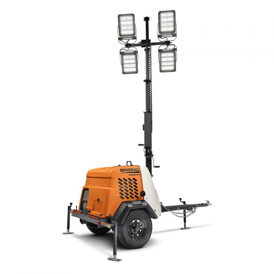 Designed for ease of use and operational efficiency, the light towers feature four powerful 296W LED fixtures, which provide powerful illumination without the hassle of metal halide bulbs.