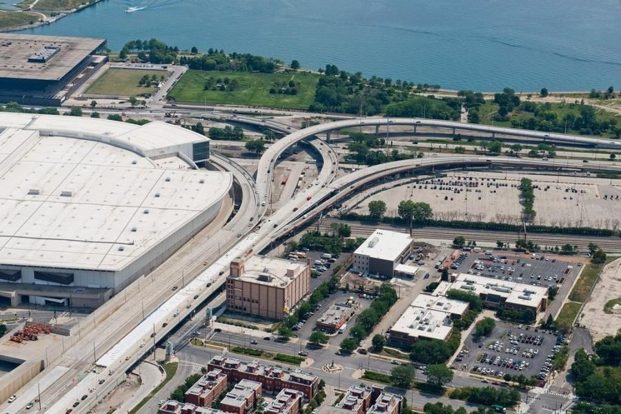 The new $135 million interchange has improved a critical connecting point for the area and greatly improved traffic flow for both Chicago residents and visitors alike.