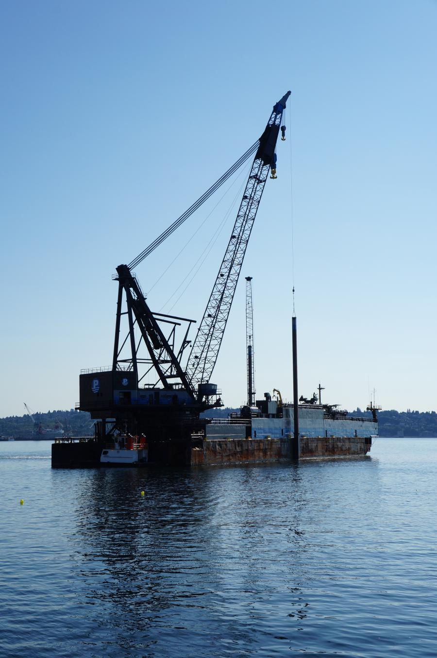 Floating Crane Stars in Seattle's $350M Coleman Dock Project