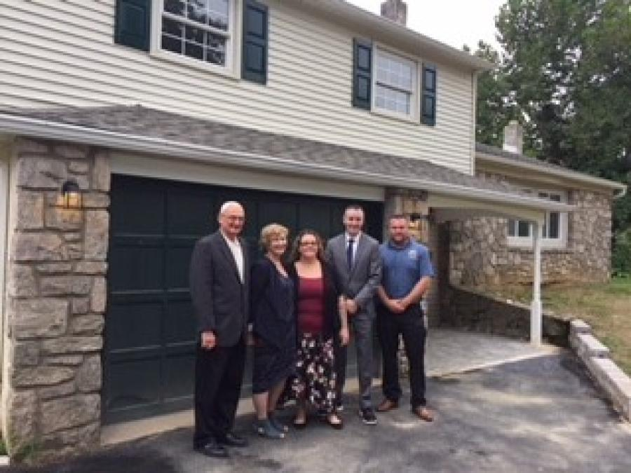 In April, carpenters from Keystone + Mountain + Lakes Regional Council of Carpenters (KMLRC) Local 167 helped refurbish the Libertae Inc. House in Bensalem, Pa. - a facility dedicated to the housing, treatment and support of women who struggle with substance abuse and addiction.