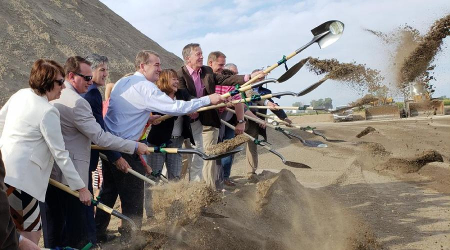 Gov. John Hickenlooper broke ground on the I-25 North Express Lanes project. 
