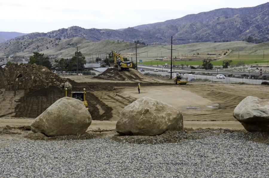 Construction of the new USFS fire station in Lake Isabella began in 2016 just left of the auxiliary dam.