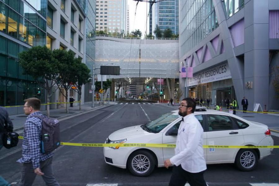 City officials closed the terminal and certain streets as a result of the cracked beam. Commuters reverted to the Temporary Transbay Terminal, which they had been using during the construction project. (Photo Credit: NBC Bay Area)
