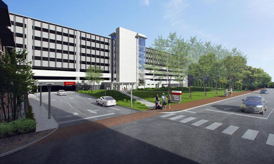 Construction on the new parking garage at Maine Medical Center will start this fall. 