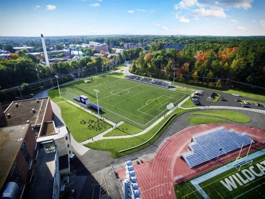 An artist's rendering of the proposed soccer and lacrosse field