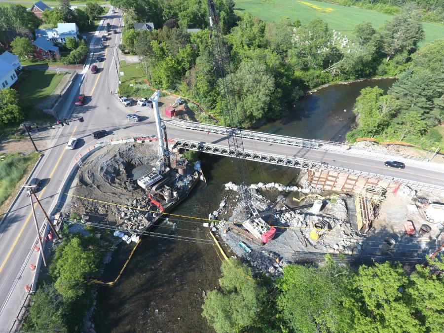 The $8 million bridge replacement in Montpelier, Vt., also includes the reconstruction of Route 2 in the vicinity of the bridge. (Josh Maxfield/GPI photo)