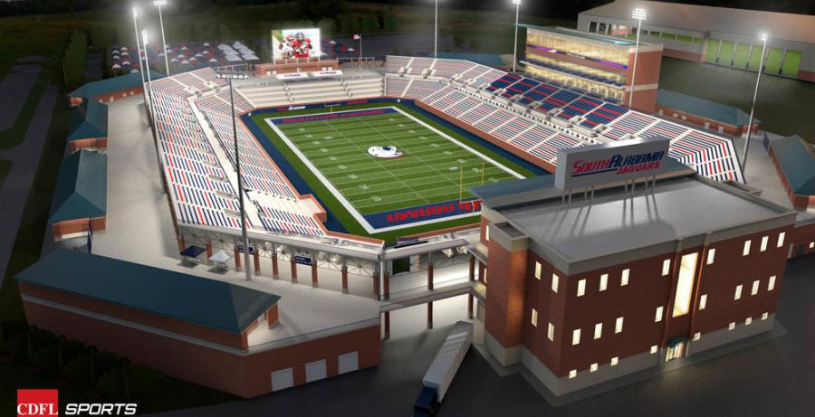 A rendering of the stadium.