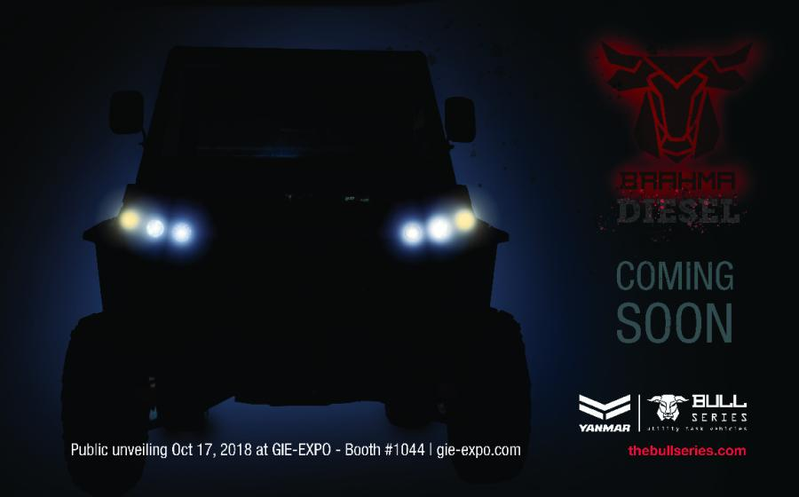 The Brahma is powered by a Yanmar three-cylinder diesel engine and offers a new design and look for the Bull Series UTV family.