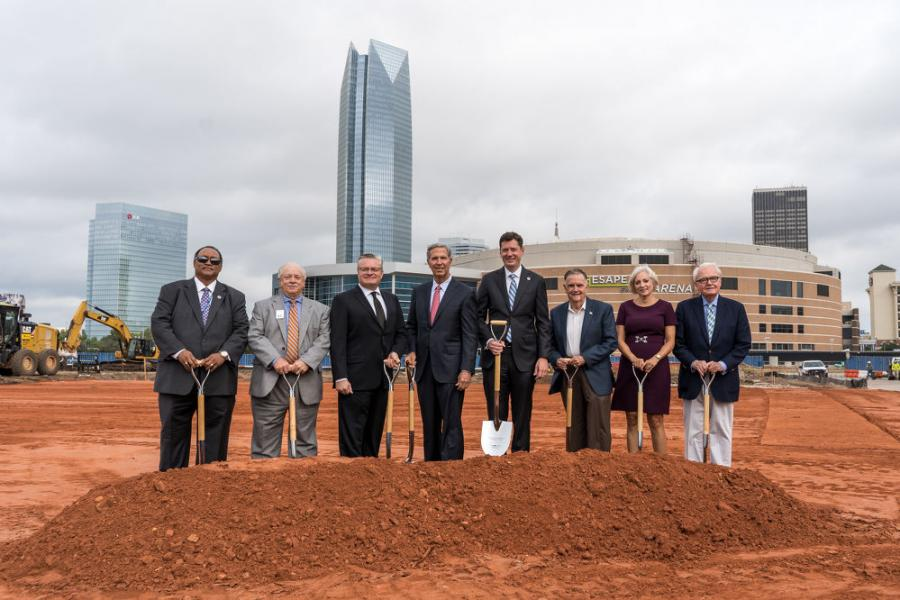 Executives of Omni broke ground alongside Oklahoma City officials.