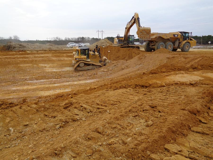 The reservoir project involves approximately 1.7 million cu. yds. of earth moving.