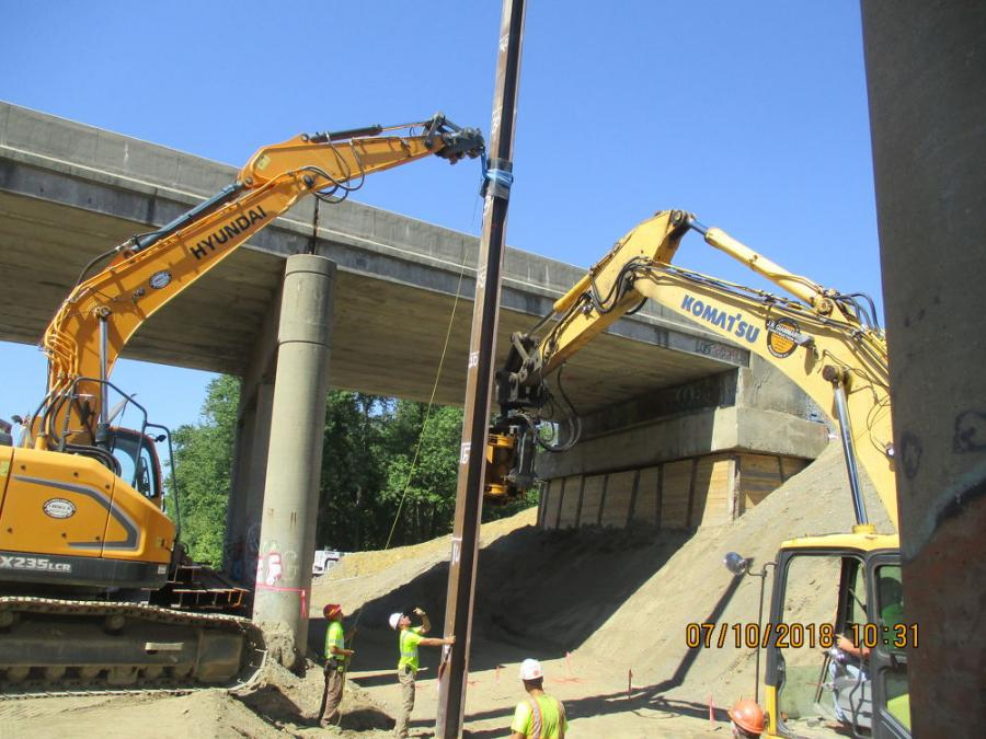 NYSDOT is removing and replacing the bridges carrying Interstate 84 over Metro-North Railroad lines in the town of Fishkill, Dutchess County. Work on the $15.8 million project began in April 2018.