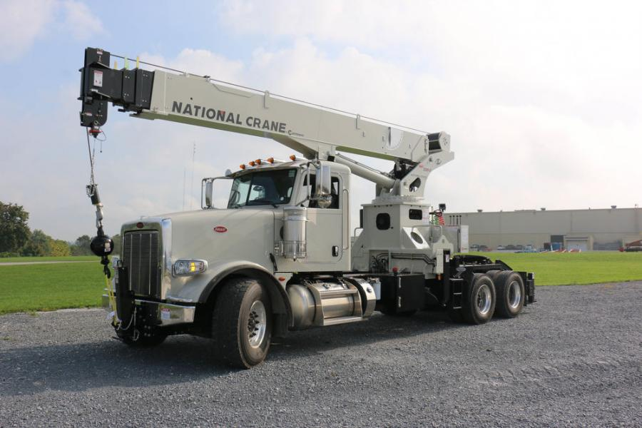 The NBT30H-2 TM features a 69 ft. (21 m) boom with a 78 ft. (23.7 m) max tip height that enables more job-site utilization than a traditional 51 ft. (15.5 m) tractor mount boom, according to the manufacturer.