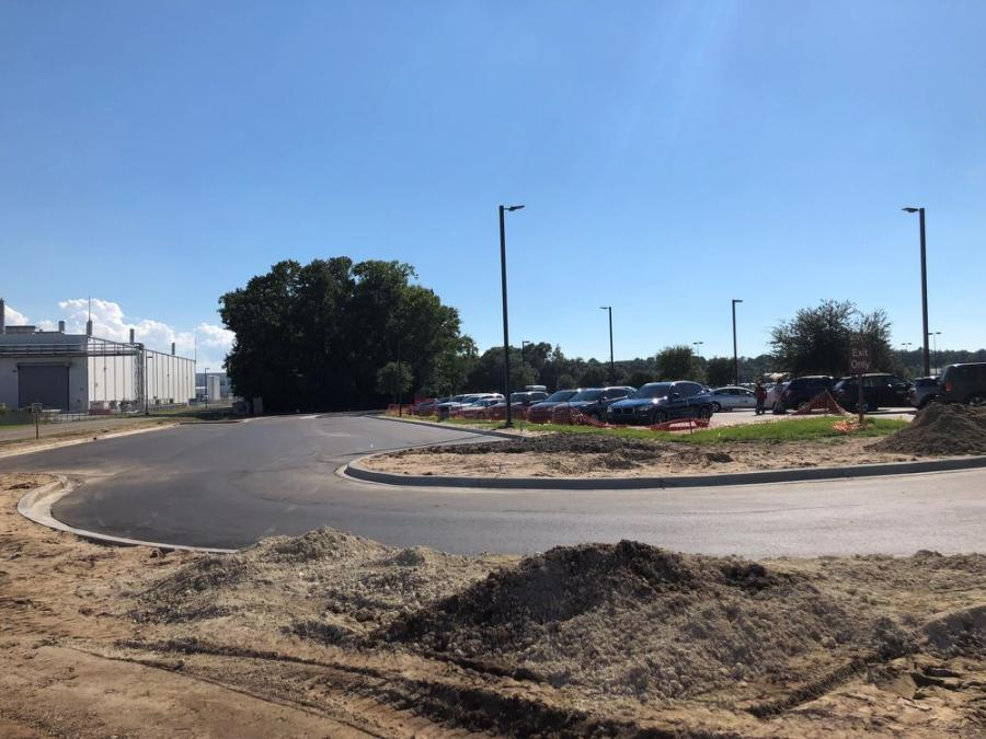 The initial phase of the Charleston International Airport parking expansions calls for 250 new spaces by Thanksgiving.