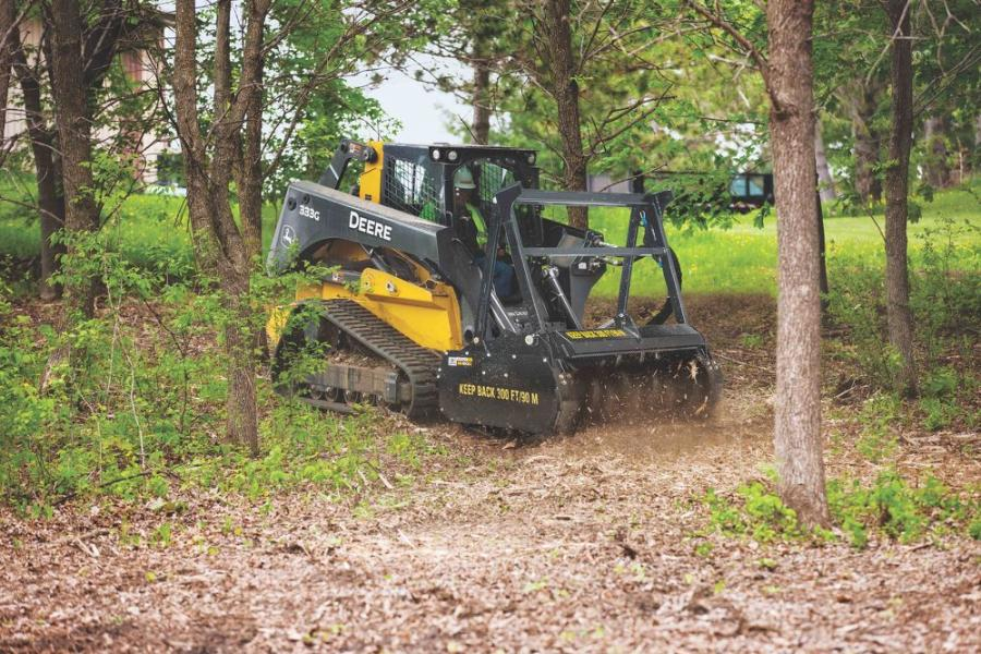 Designed to remove 8-in. (20-cm) trees and 12-in. (30.5-cm) stumps with ease, the MH60D model shreds underbrush and woody materials into beneficial mulch in minutes.