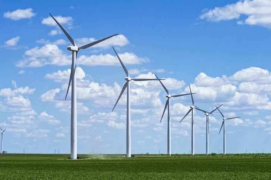 Green Development LLC, says its turbines, at 3 megawatts each, will be fully operational by the year's end, for 21 megawatts.