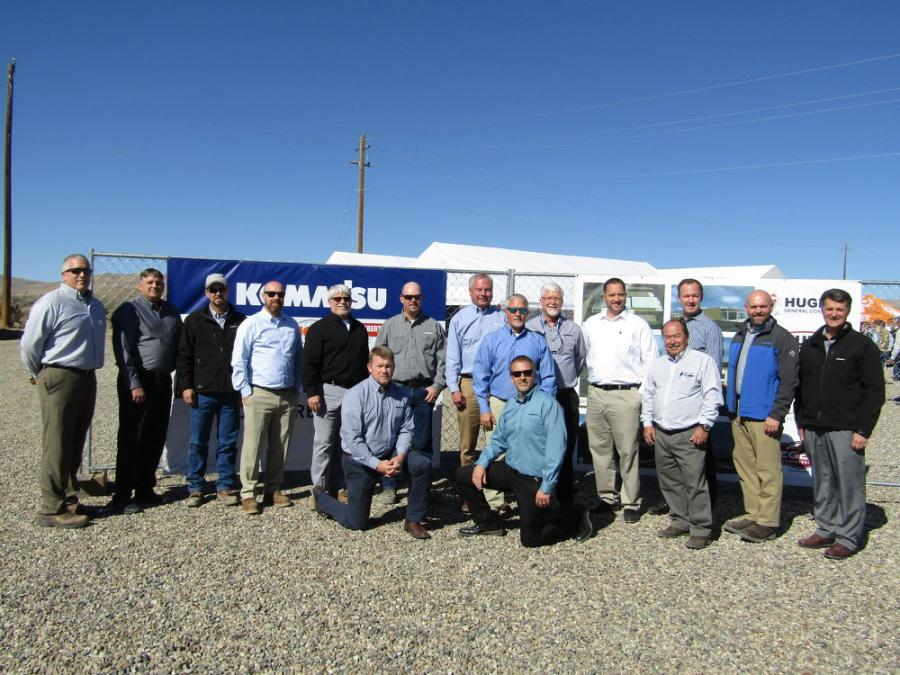 Komatsu executives were on hand for the groundbreaking ceremony in Elko, Nev. (See caption below.)