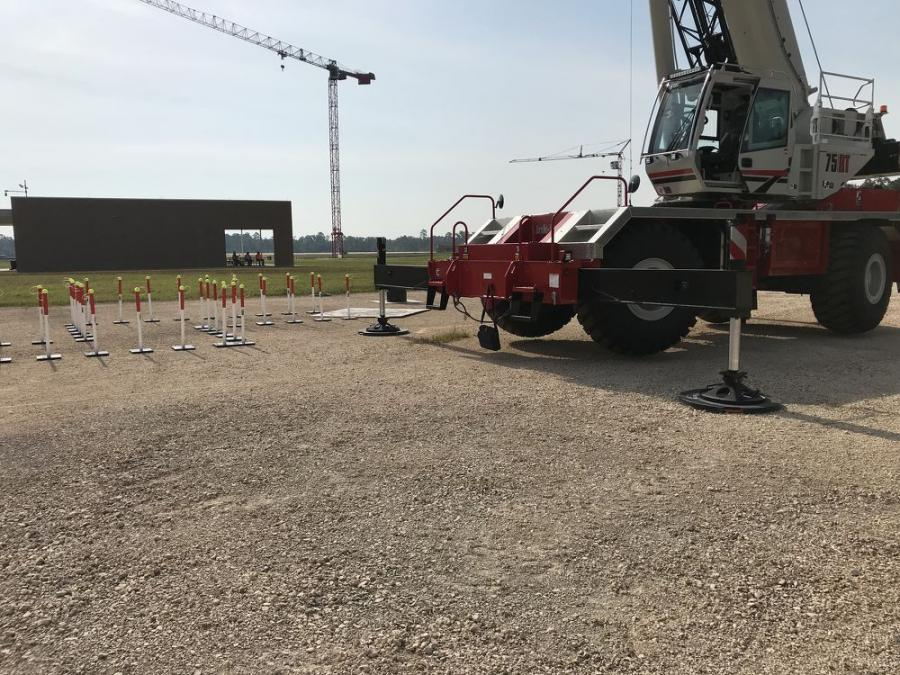 SafetyTech Outrigger Pads are used for crane setup for crane training programs conducted at the IUOE's International Training Center in Crosby, Texas.