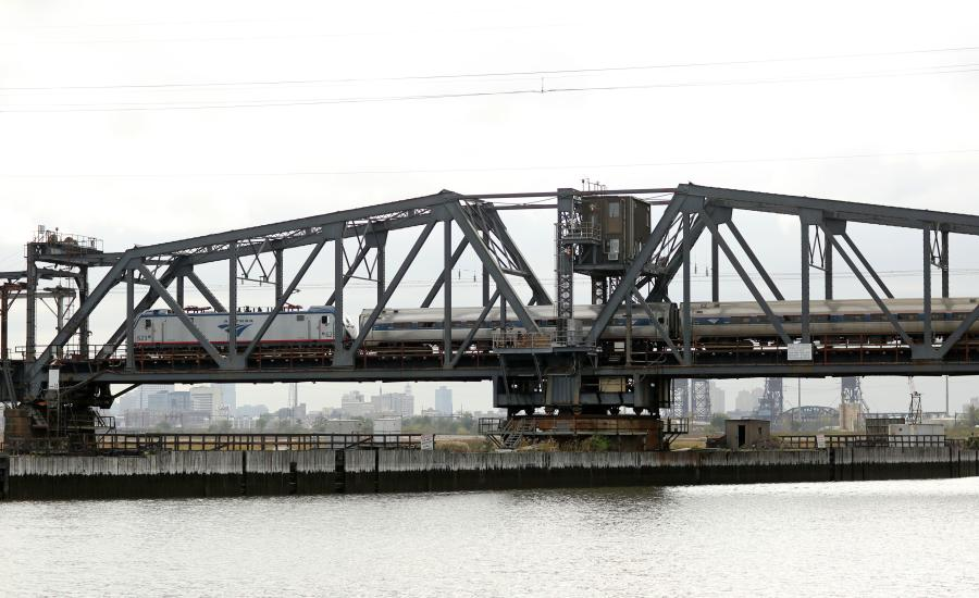 The century-old Portal North Bridge over the Hackensack River