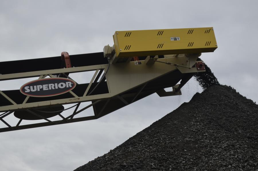 All conveying systems in the Fay & Wright portable crushing spread are manufactured by Superior and sold and serviced by Whitney & Son.