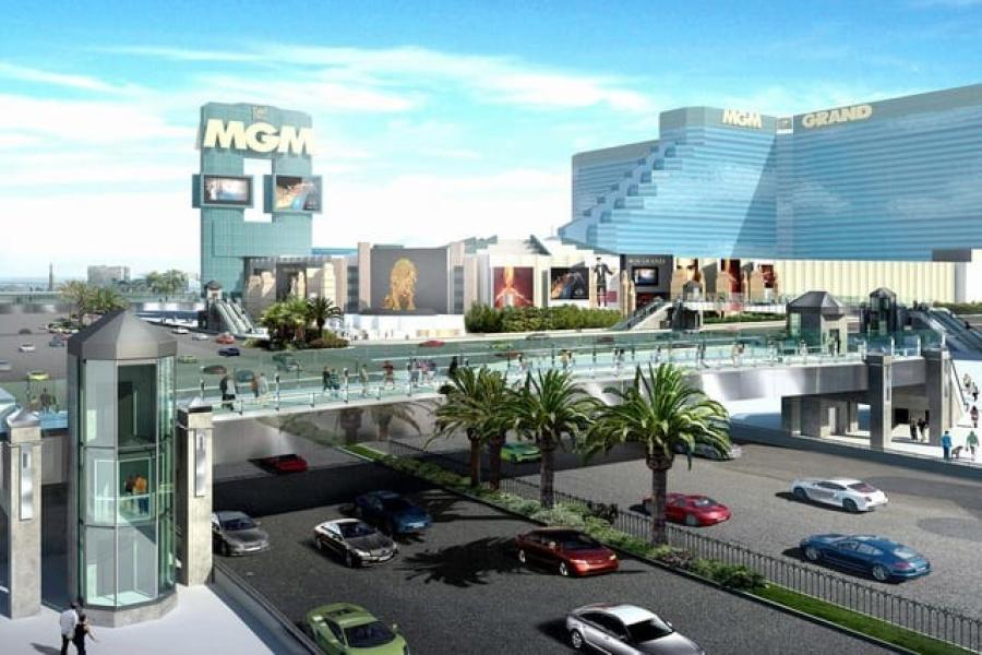 The new bridge will allow pedestrians to cross Las Vegas Boulevard between the Park MGM and the Showcase Mall.