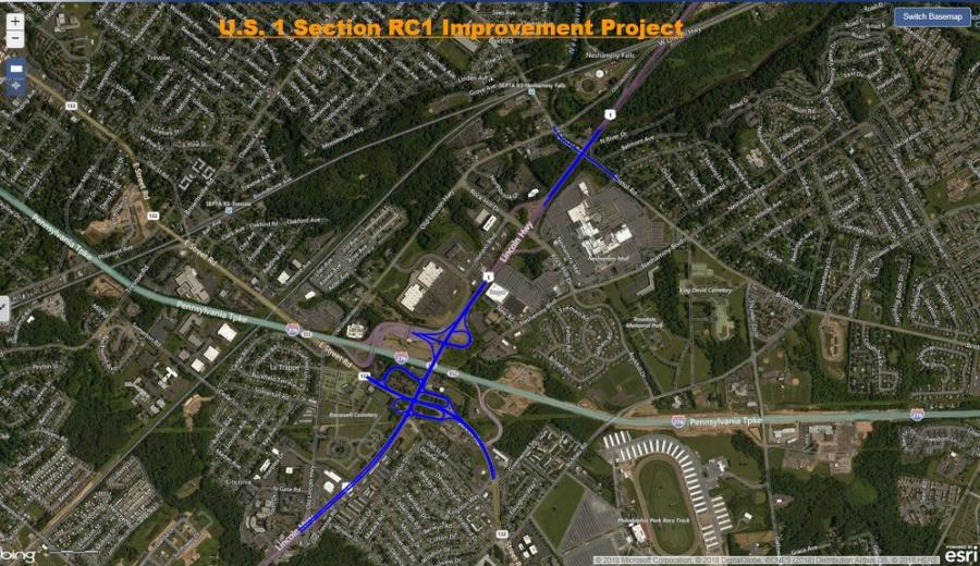 U.S. 1 Section RC1 is the first of three construction contracts to rebuild and widen U.S. 1; replace aging bridges; and install safety enhancements along a 4-mi. section of the expressway.
