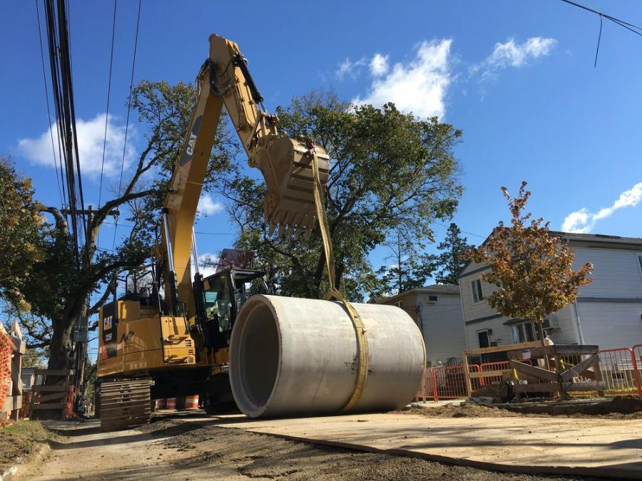 The project involves the replacement of 18,000 ft. of old cast iron water mains, some dating back to the 1920s, that were installed by the Jamaica Water Supply Company. (Department of Environmental Protection photo)