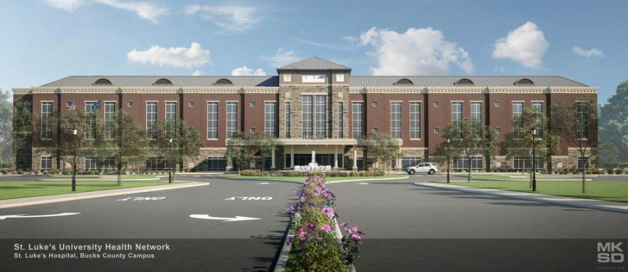 In Milford Township, Pa., construction is under way on a highly-anticipated hospital in Quakertown for St. Luke's University Health Network.