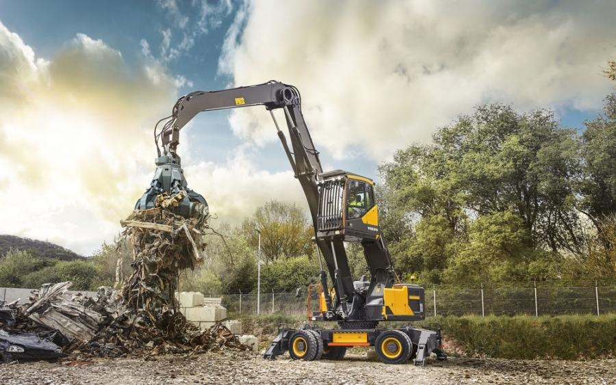 Designed to keep productivity and uptime high, the EW240E material handler is ideal for applications requiring optimum reach and visibility.