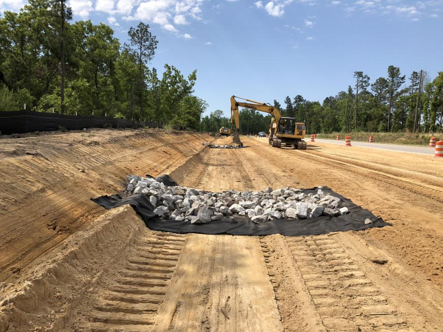A $64 million project is widening an 8-mi. section of Hard Scrabble Road in Richland County, S.C., from two lanes to five.