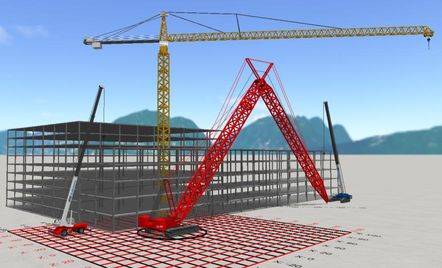 It is now possible in 3D Lift Plan to knife-jack a lattice boom with luffer to verify procedures for lowering long lattice/luffer combos into stowed position.