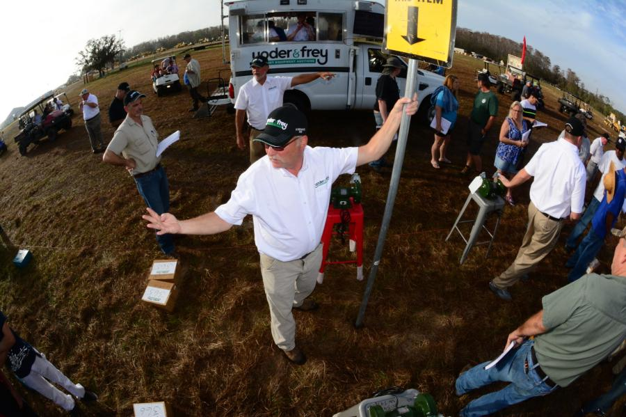 """Overall we were pleased with how our recent Kissimmee auction went,"" said Peter Clark, president of Yoder & Frey. ""We realized good numbers for our consigners and our buyers left with quality equipment. The fact that first time buyers accounted for two thirds of the overall buyers show that the quality of the equipment consigned is really attracting more and more new customers all the time."""