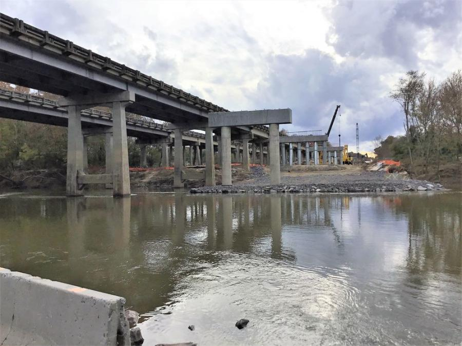 The North Carolina Department of Transportation is replacing an aging pair of bridges over the Yadkin River in the west-central part of the state.