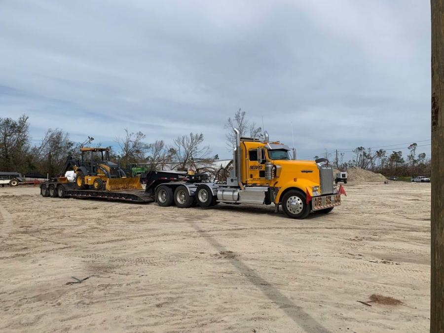 Beard Equipment and John Deere donated the use of a John Deere backhoe to four local counties and municipalities in the Florida Panhandle.