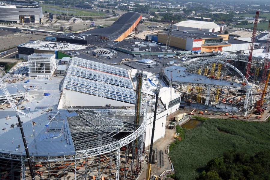 Having experienced its own roller coaster ride of sorts, American Dream — now being developed by Triple Five — will reportedly generate more than 23,000 jobs during the construction phase. (PCL Construction photo)