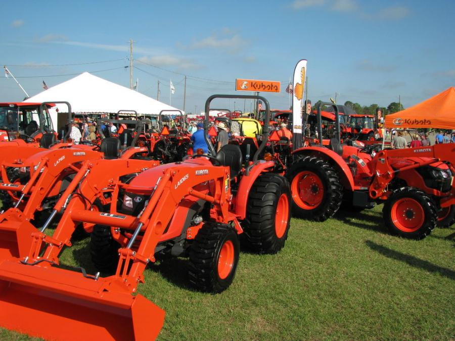 As at every Sunbelt Ag Expo, there was a whole lot of orange packed into the Kubota exhibit for anyone engaged in the ag, construction, or turf industry.