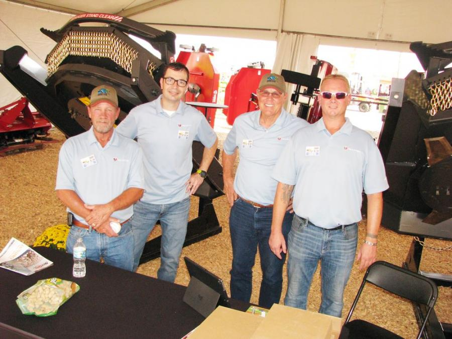 Some of the representatives from Paladin that were at Sunbelt Ag promoting their line of attachments included (L-R) Marty Owen, Chad Major, Ned Yost and Terry Thein.