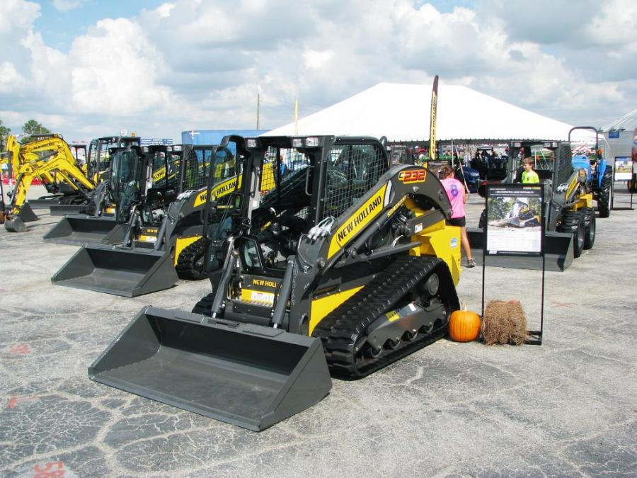 New Holland had a wide array of compact and mini-equipment at its exhibit area.