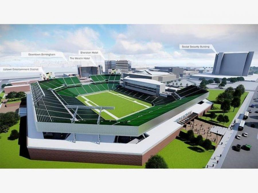 Site work is set to begin by the end of the year on a $175 million, 45,000-seat stadium at the Birmingham-Jefferson Convention Complex.