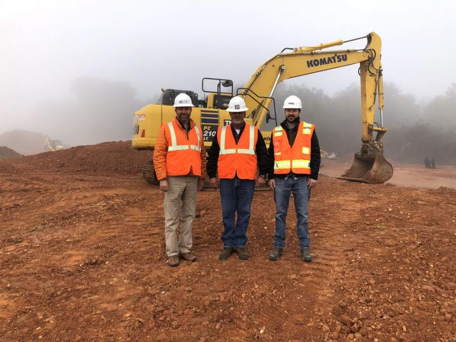 (L-R): Dan Sheffey and Bill Adams of Tennessee Excavating rely on Aaron Kiser of Power Equipment for service and maintenance of their Komatsu excavators.