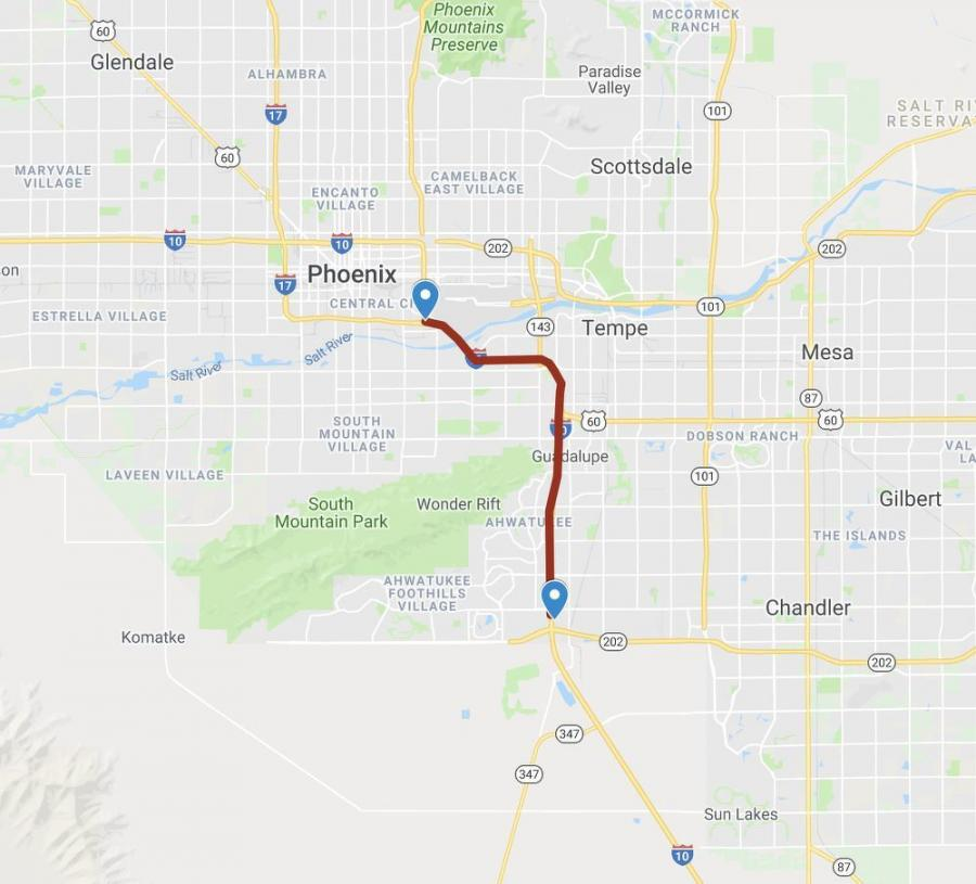 "Proceeds from the sale will be used for an upcoming project to widen I-10 between the Loop 202 (Santan Freeway) and the I-17 ""Split"" interchange near Sky Harbor. That project is scheduled to start construction in 2021."