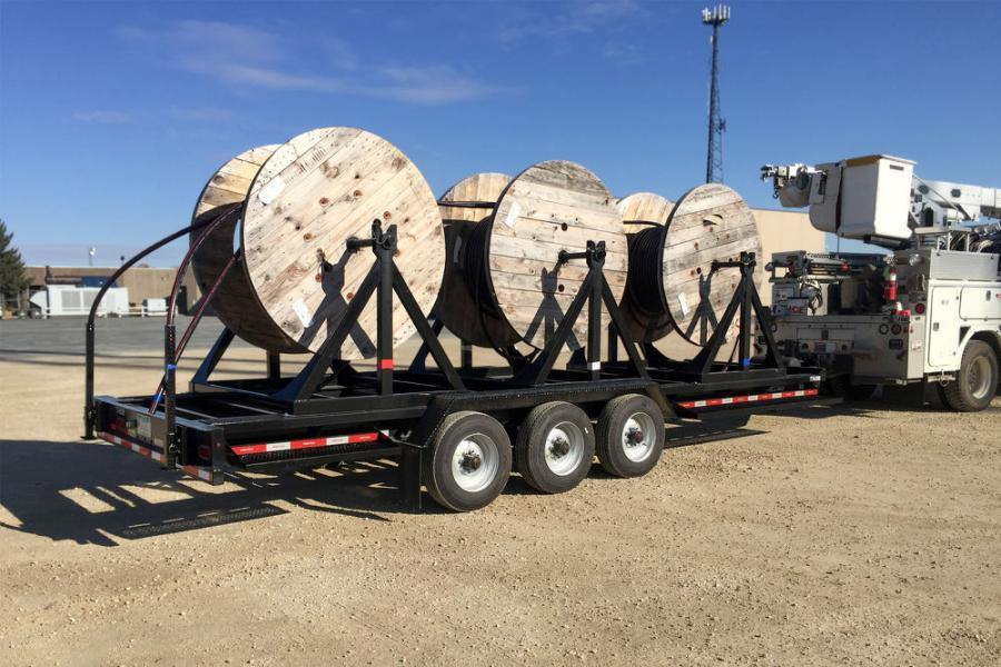 The Electric Cooperative currently has five Felling cable reel trailers in service, with varying features and capacities.