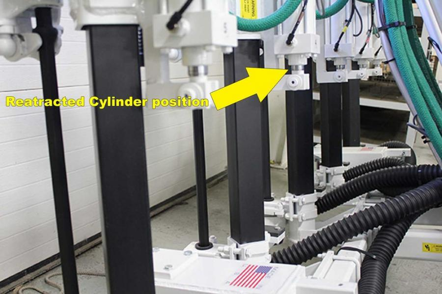 Retracting the cylinders will prevent the rods from rusting and collecting dust, which damages the cylinder rod seals.