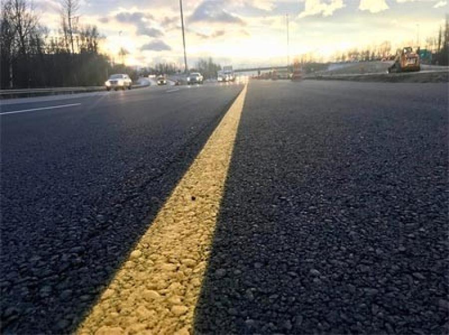 Seward Highway at Tudor, after repairs. (Alaska DOT&PF)