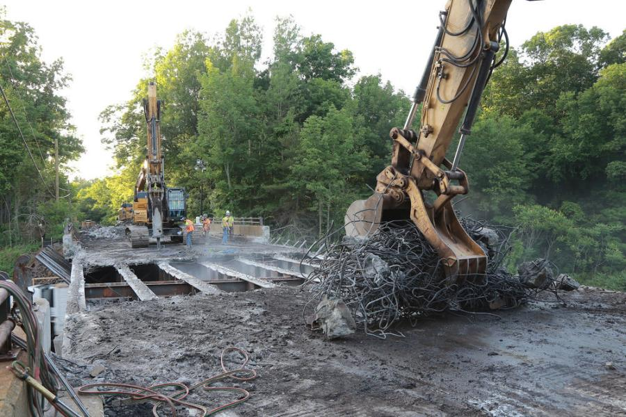 The $22.1 million project for the design and construction of the four bridges is being completed by Middlesex Corp., the prime contractor and H.W. Lochner, the engineering design firm.
