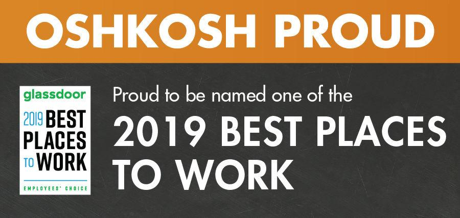 This is the second consecutive year that Oshkosh Corporation has earned this award; achieving an overall rating of 4.3 out of 5. Oshkosh was ranked #65 out of the top 100 largest companies, with 830,000 companies on Glassdoor.