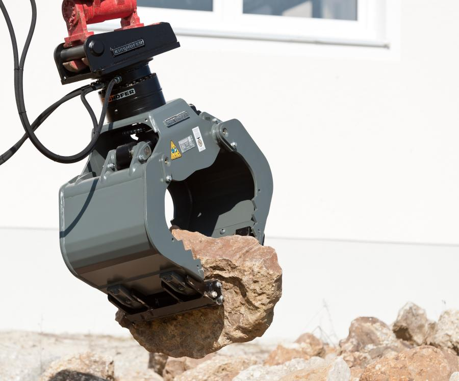 The HPXdrive system is compatible with Kinshofer's multi-purpose grapple, demolition and sorting grapple, clamshell bucket, timber or rock grapple and with the NOX-Tiltrotator.