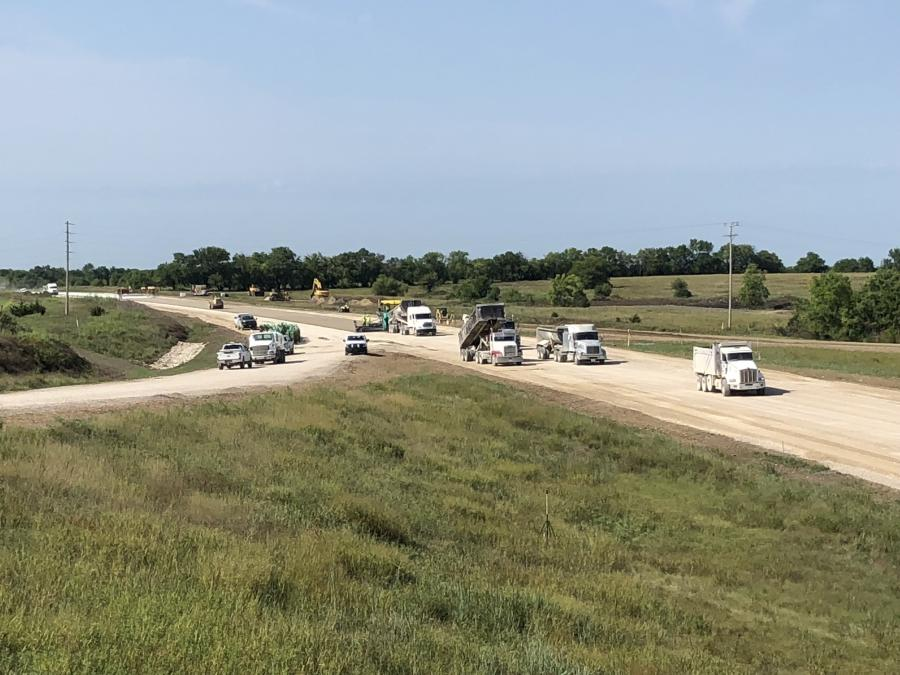 The Kansas Department of Transportation is repaving a 7.12-mi. section of U.S Route 169 in Allen County.