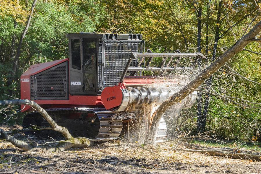 The FTX300 features a BH120 forestry mulcher with variable speed motors and three optional rotor systems, including Fecon's depth control rotor (DCR) technology.