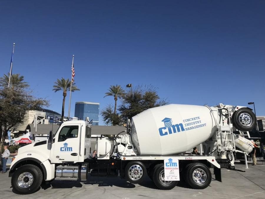 Kenworth and Kenworth of Central Florida have donated a 2019 Kenworth T880S truck with a Con-Tech Manufacturing bridge-formula rear-discharge BridgeKing mixer for the annual CIM Auction at World of Concrete.